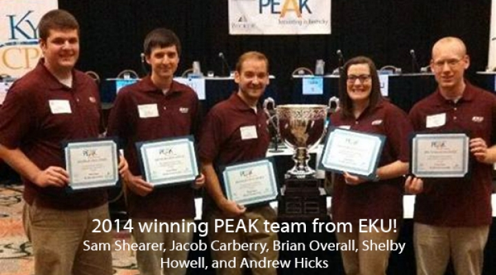 2014 winning PEAK team from EKU!