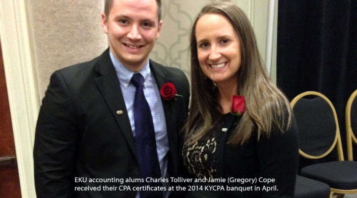 Charles Tolliver & Jamie (Gregory) Cope received their CPA certificates