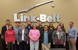 Dr. Isaacs' Advanced Management Accounting Seminar class visits Link Belt