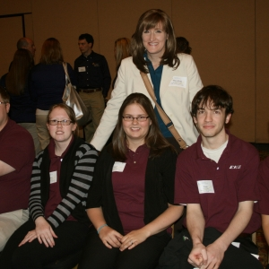 EKU PEAK team with advisor Dr. Mary Beth Holbrook (back)