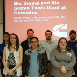 Cummins Six Sigma MBB Ginger White with EKU Accounting students