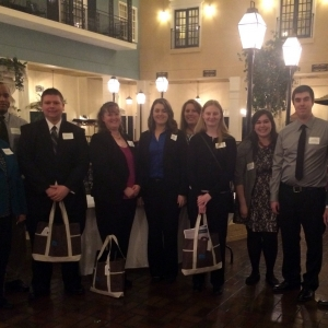Drs. Higgins and Fenton (far left and right) with EKU Accounting students at IMA